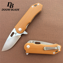 "7.9"" 60 61HRC Knives D2 Blade G10 Handle Ball Bearings Flip Folding Knife Survival Tool Pocket Knifes Tactical Outdoor Knives"