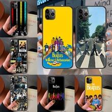 the Beatle band Phone Case For Iphone 4 4s 5 5S SE 5C 6 6S 7 8 Plus X XS XR 11 12 Mini Pro Max 2020 black Back Soft Prime Luxury
