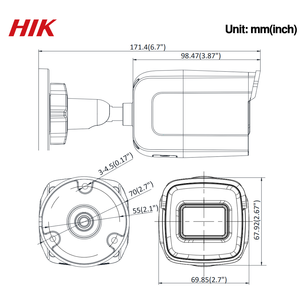 Image 4 - Hikvision Original DS 2CD2085G1 I 8MP 20fps Bullet Network CCTV  IP Camera H.265+ POE WDR SD Card Slot powered by DarkfighterSurveillance Cameras   -