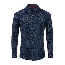 Spring and Autumn New European Code Mens Shirt Summer Cotton Long Sleeve Corrugated