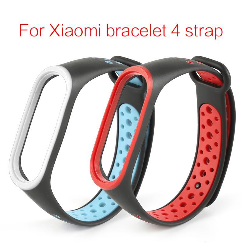 Newly For Millet Bracelet4 Wristband Smart Sport Bracelet Stomata Watch Strap Silicone Watch Band For Xiaomi Miband4 Wrist Strap