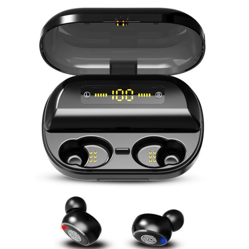 H&A TWS 5.0 Bluetooth 9D Stereo Earphone Wireless Earphones IPX7 Waterproof Earphones Sport Headphone With <font><b>4000mAh</b></font> <font><b>Power</b></font> <font><b>Bank</b></font> image