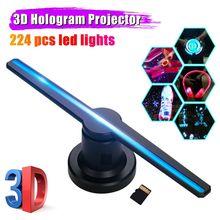 3D LED голограмма голографическая проектор WiFi дисплей вентилятор голограмма реклама изображения лампа пульт реклама машина управление игра