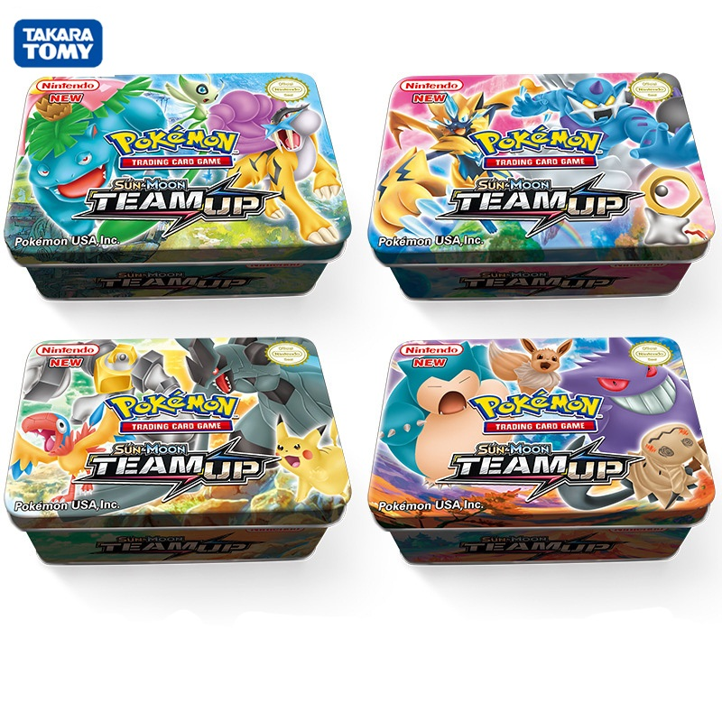 42pcs/box Pokemon TCG: Sun&Moon TEAM UP Shining Card Game Battle Carte Trading Cards Kids Toys