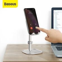 Baseus ayarlanabilir cep telefonu tutucu iPhone 12 11 Pro Max XS teleskopik masaüstü braketi Tablet standı Samsung Huawei için