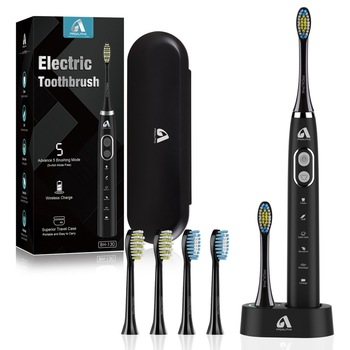 Proalpha Sonic Electric Toothbrush BH-130 Adult Ultrasonic Automatic Toothbrush USB Rechargeable IPX7 Waterproof Tooth Brush 5 mode sonic electric toothbrush usb rechargeable automatic ipx7 waterproof ultrasonic tooth brush with replacement brush head