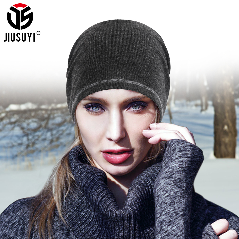 New Beanies 10 Colors Winter Thermal Warm Cap Running Hat Green Black Pink Gray Brown Soft Cycling Skiing Windproof Men Women