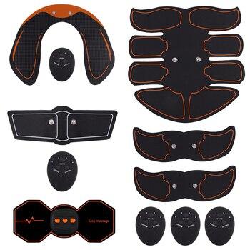 Simuladores eléctricos entrenador de prensa de masaje ejercitador de músculo Abdominal pierna del vientre Ejercicio de brazos entrenamiento equipo de Fitness en casa