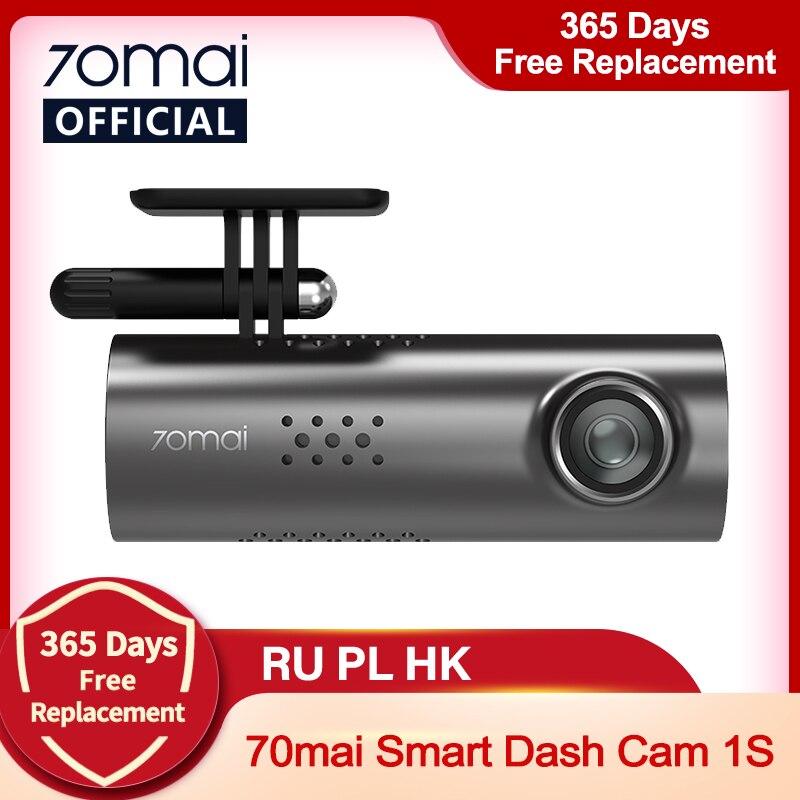 70mai – caméra de tableau de bord intelligente 1S 1080P, avec commande vocale en anglais, Vision nocturne supérieure, enregistreur pour voiture, Wifi, DVR, tableau de bord vidéo