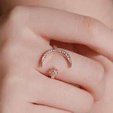 Женское кольцо с Луной и солнцем роскошное принцессы модные