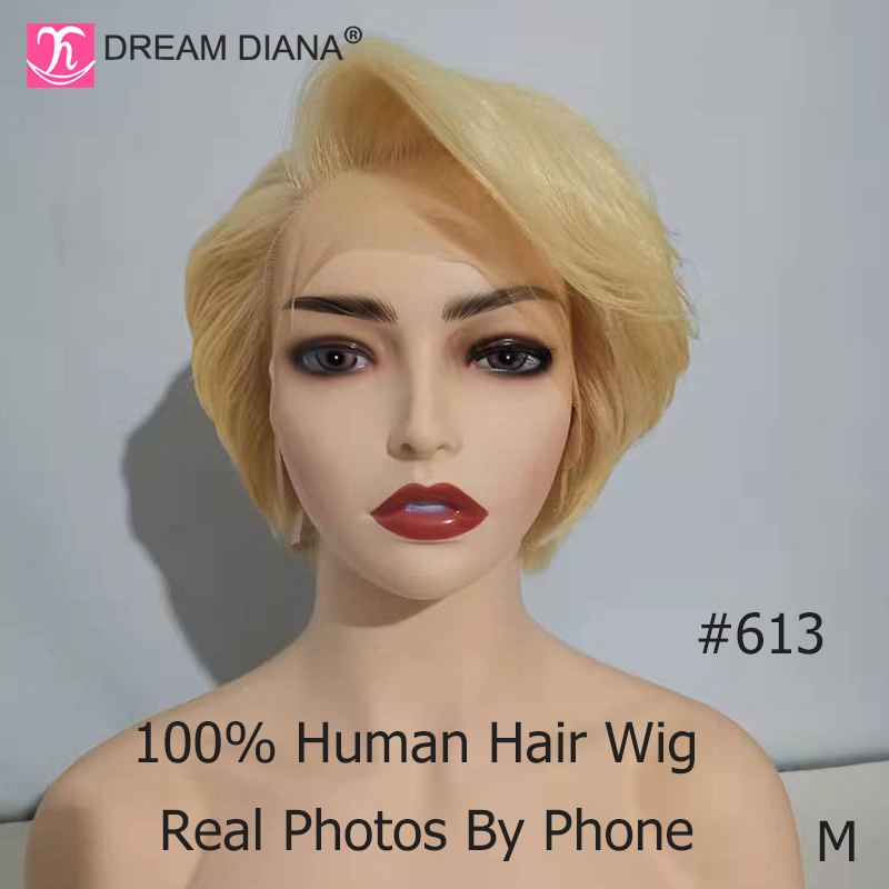 DreamDiana 613 Lace Front Wig Remy Hair Bob Wig 8