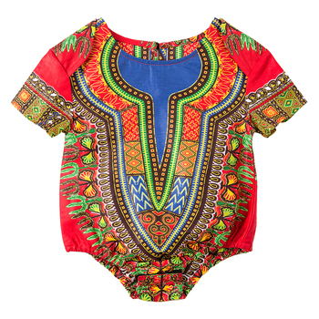 african clothes for baby African Jumpsuits for kids Dashiki Print traditional dashiki cotton material lovely kids clothes 2020 african dashiki design clothes for lady print appliques with two pockets spring