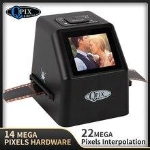 Visualizador de imagem digital da foto do conversor do filme da corrediça do varredor 35/135mm do filme negativo protable com o software de edição da construção de 2.4