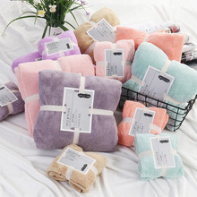 2 Piece Set Home Textile Coral Velvet Absorbent Bath Towels For Adults Large Soft Comfortable Towel microfiber absorbent towel