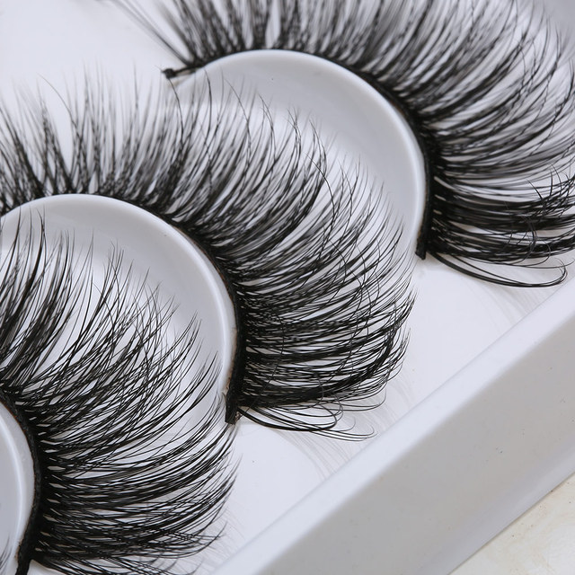8/20 pares de pestañas postizas de pelo de visón suave 3D hechas a mano pestañas largas mullidas y mullidas utensilios de maquillaje para ojos pestañas postizas