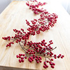 Red Berry Garland Christmas Artificial Fruit Cuttings Tree Decorations Door Hanging Ornaments Home Wedding Decor