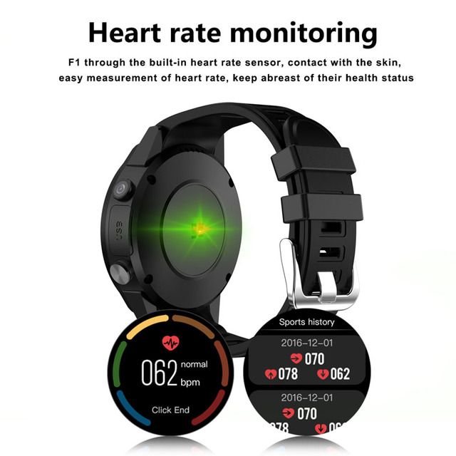 F1 Smart watch GPS watch Heart Rate tracker men smartwatch Multi-sport Mode SIM Card Pedometer for Android Ios Phones 4