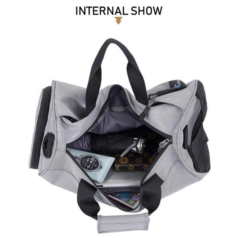 Kadın erkek su geçirmez spor çantaları, çok fonksiyonlu Yoga Fitness eğitim spor çantaları, 4 renk seyahat omuz çantaları ile ayakkabı çantaları