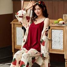 Пижама женская короткая из чистого хлопка жилет с v образным