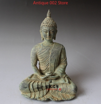 China old bronze Collections from the countryside Shakya Muni Buddha statue feng shui