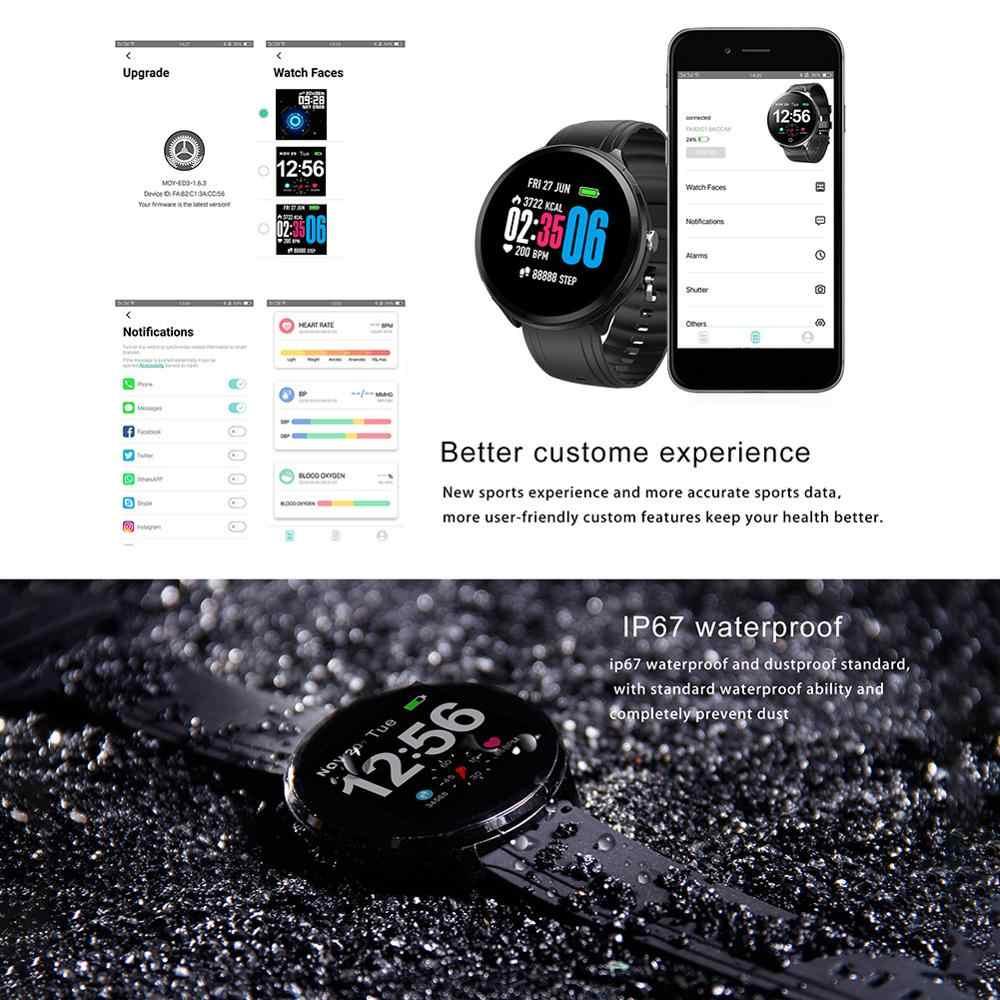 V12 spor akıllı saat kalp hızı kan basıncı monitörü kalori Smartwatch renkli ekran akıllı bilezik uyku izleme Pedo