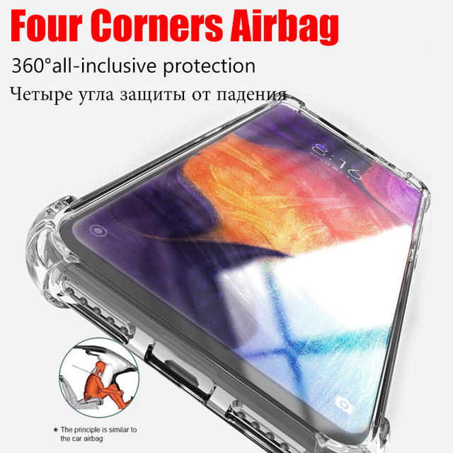 Clear Shockproof Case For Samsung Galaxy S21 S20 fe Plus Note 20 Ultra A21S A12 A31 A52 A72 A51 A71 A70 A50 S8 S9 S10 Plus Cover 5