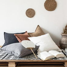 Cutelife Ins Pure Color Cotton And Linen Pillow Protector Sofa Linen Cushion Bay Window Pillow Cases