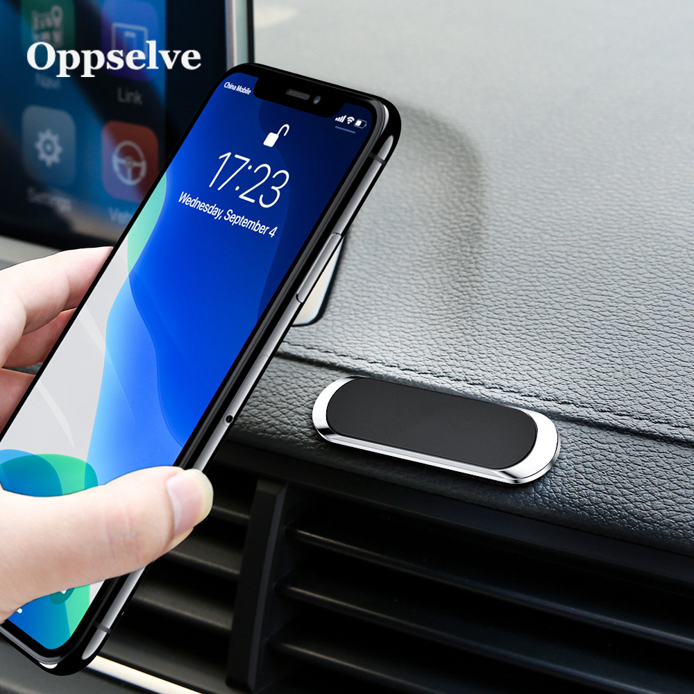 Multi-function Car Phone Holder For All Phones Ultra Thin Magenetic Phone Mount Metal Strip Shape Cellphone Support Bracket