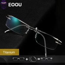 Brand Design Optical Glasses Prescription Anti blue light Oculos Myopia Multifocal Lens Men Square Frame
