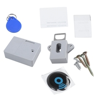 Niewidzialny ukryty RFID bezpłatne otwieranie inteligentny czujnik zamek meblowy do szafki szafka szafa szafka na buty drzwi szufladowe blokada elektroniczna ciemna w Zamki do szafek od Majsterkowanie na