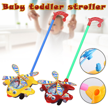 Push Plane Toy Plastic Push Cart for Baby Toddler Learning Walk Toy Airplane Cart M09