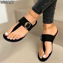 2020 verão feminino clip pés novo clip toe sandálias planas moda feminina confortável fivela de praia ao ar livre chinelos d1049