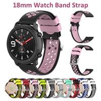 Rosa Armband für Fossil Sport 41mm & Amazfit Bip & Galaxy Uhr 3 & Huawei Uhr GT2 Pro Band 18mm 20mm 22mm Silikon Ersatz