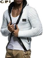 CPI Autumn Fashion Men Hoodies Brand Leisure Men Hoodie Sweatshirts Casual Zipper Hooded Jackets Male Rivet Hoody Punk YF 250