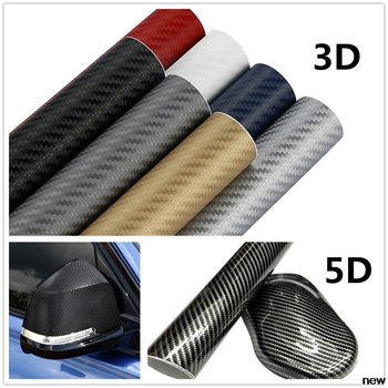 30x127cm 3D 5D car carbon Fiber Vinyl stickers Decals FOR BMW E34 F10 F20 E92 E38 E91 E53 E70 X5 M M3 E46 E39 E38 E90 image