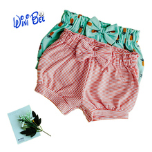Baby Shorts Newborn Girls Bombachos Bebe Striped Clothes Printed Baby Bloomers Kids Toddler Trousers Casual PP Pants 0-24Months
