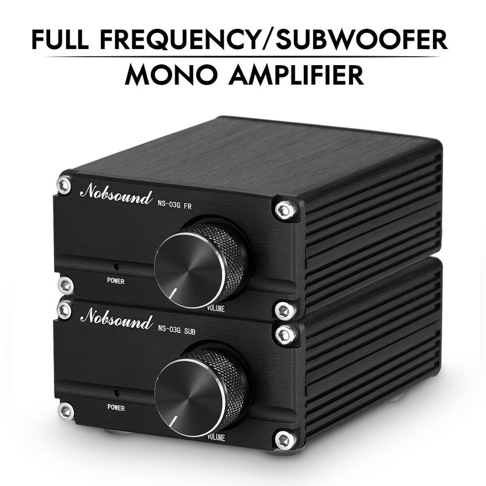 Nobsound Latest Mini 100W Subwoofer / Full Frequency Power Amplifier Mono Channel Audio TPA3116D2 Amp Black/Gray