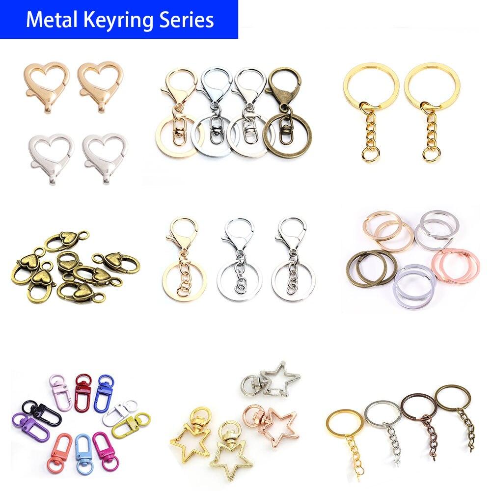 Брелок для ключей с разрезом, металлический пустой держатель для ключей в виде кольца, 10 шт./лот, для женщин и мужчин, оптовая продажа аксессу...
