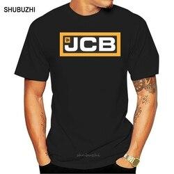 Midnite Estrela Escavadeira JCB Jcb Camisas de T Dos Homens Tops de Manga Curta T-shirt Camisetas de Algodão Mans Camiseta