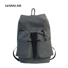 Fashion Large Capacity Backpack Oxford Cloth Unisex Trend Travel Bag Youth Students Men And Women Street Cool Gray