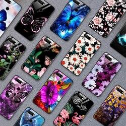 На Алиэкспресс купить стекло для смартфона phone case for xiaomi redmi 5a 6a s2 go plus tempered glass cover for vivo z5x iqoo nex as s1 pro flower butterfly pattern shell