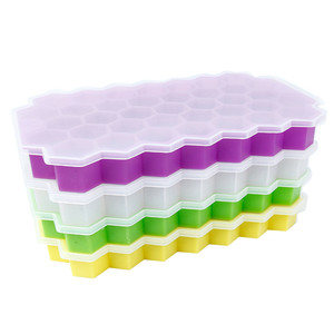 Image 3 - Home Kitchen Ice Cube Tray Summer Honeycomb Shape Ice Cube 37 Cubes Ice Tray Ice Cube Mold Storage Containers Drinks Molds