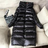 90% White Duck Down Jacket Women Thick Warm Long Winter Coat Women Hooded Female Parka Snow Outwear Puffer Jacket Waterproof
