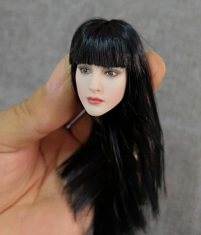 "1//6 Anime Female Short Brown Hair Europe Girl Head Sculpt F 12/"" Pale Body Figure"