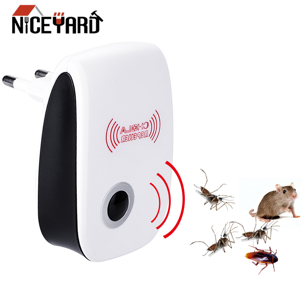 NICEYARD EU/US Plug Electronic Mosquito Repellen Cockroach Mosquito Insect Killer Ultrasonic Pest Repeller
