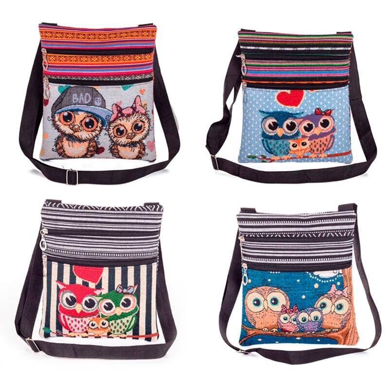 New Fashion Women Lady Shoulder Bag Messenger Owl Embroidered Vintage For Mobile Phone Money Casual Women Bag|Shoulder Bags|   - AliExpress