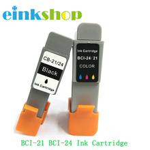 Einkshop ink cartridge BCI-21 BCI-24 bci 21 24 for Canon BJC 2000 2100 2115 2120 400 410 400j 4000 printer