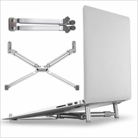 Stand Holder for Laptop Portable Folding Adjustable Laptop Stand Aluminium Laptop X-Stand Stand for Macbook Laptop Notebook New