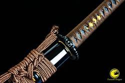 Épée Katana en acier de printemps | Rasoir fait à la main, tranchant de combat japonais, prêt 9260