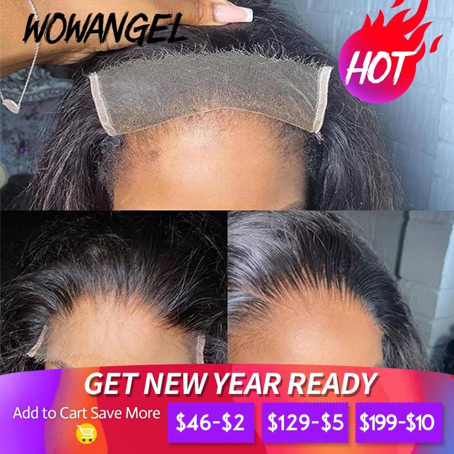 Extensiones de cabello humano Remy con cierre Frontal de malla, encaje HD Invisible, 5x5, prearrancado